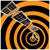 Communication satellite — Stock Vector