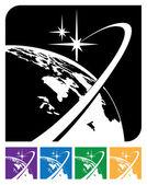 Earth orbit — Stockvektor