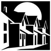 Stadthaus — Stockvektor