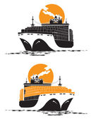 Containership — Stock Vector