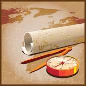 Карта сокровища — Cтоковый вектор