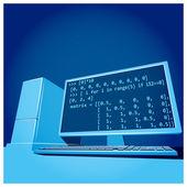 Potente Workstation — Vettoriale Stock