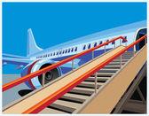Civil aircraft — Stock Vector