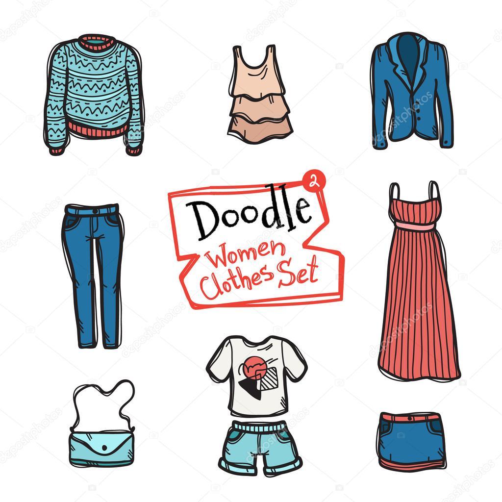 Нарисованная одежда рисунки