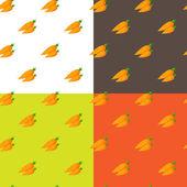 Vector flat carrots seamless pattern — Stock Vector