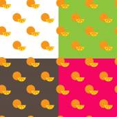Vector flat orange fruits seamless pattern — Stock Vector