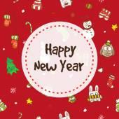 クリスマスと新年のシームレスなパターンをベクトルします。 — ストックベクタ