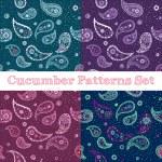 Vector hand drawn paisley seamless patterns set — Stock Vector #54765449