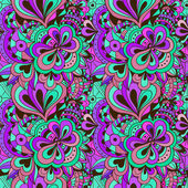 Vector doodle hand drawn seamless floral pattern — Vecteur