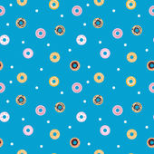 Vector sweet donuts seamless pattern. Pastry background — Stock Vector