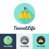 Vector modern flat creative travel company minimalistic logo — Vector de stock