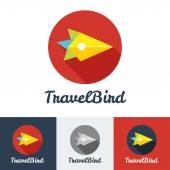 Vector modern flat creative travel company minimalistic logo — Stock Vector