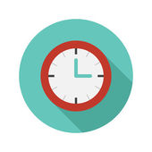 Vector flat modern round watch icon — Vecteur