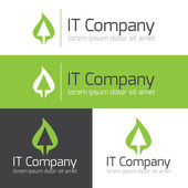 Vector minimalistic it or design studio logo — Stock Vector