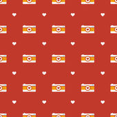 Vector flat hipster cameras seamless pattern — Stock Vector