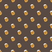 Vector bright beer mug seamless pattern — Stock Vector
