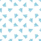 Vector flat minimalistic paper planes seamless pattern — Stock Vector