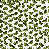 Seamless colorful pattern with the image of Kiwi fruit — Stok Vektör
