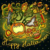 Cute illustrations for the holiday Halloween — Stock Vector
