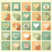Set of Love icons. — Stock Vector