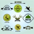 Hunting club label collecton. Vector. — Stock Vector #59167747