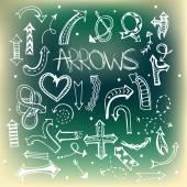 Arrow icon set. — Stock Vector