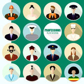 Set of flat icons. Profession. — Stok Vektör