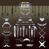 Baker Elements for your design. — Stock Vector
