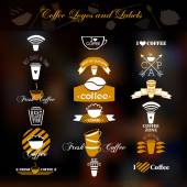 Coffee logos and labels. — Stok Vektör