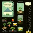 Set of organic and farm fresh food badges and labels — Stock Vector #62405961