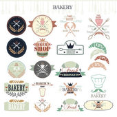 Vintage Retro Bakery Badges and Labels. — Stock Vector