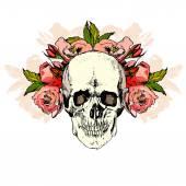 Illustration with skull. hand draw. — Stock Vector