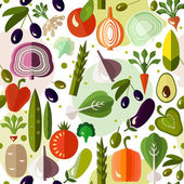 Bright colorful pattern with vegetables.  — Stock Vector