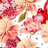 Modèle sans couture avec aquarelles fleurs. — Vecteur