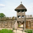 Archaeological settlement in Biskupin. Entrance — Stock Photo #54504489