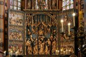 Mariacki Altar in Krakow 2 — Stock Photo