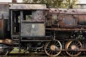 Old, rusty steam egine — Stock Photo