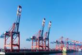 Cargo port of Hamburg, Germany — Stock Photo