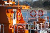 Equipment on a maritime pilot boat — Stock Photo