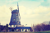 Historic windmill in vintage style — Stock Photo