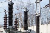 High voltage transformer station — Stock Photo