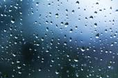 Rain water drops on a window glass — Stock Photo