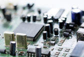 Electronic circuit board, macro — Stockfoto
