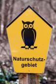German sign for area of conservation, Naturschutzgebiet means na — Stock Photo