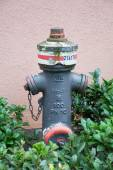 Weathered gray fire hydrant — Stock Photo