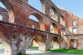 Red brick ruin with arches of a monastery building, Bad Doberan — Stockfoto