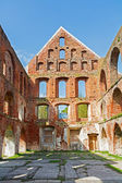 Ruin of a monastery building of red brick in Bad Doberan — Stock Photo