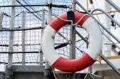 Lifebuoy on a ship — Stock Photo
