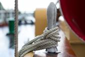 Rope on an old tall ship — Stock Photo