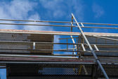 Scaffolding with a view in the blue sky — Stock fotografie